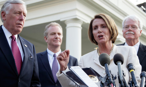 Image: Nancy Pelosi, Steny Hoyer, George Miller, Chris Van Hollen