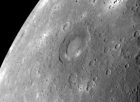 Image: The Rachmaninoff basin on Mercury