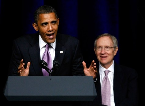 Image: President Obama Joins Harry Reid At Campaign Rally In Las Vegas