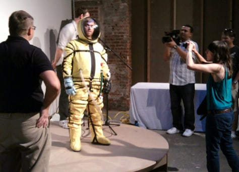 Image: Spacesuit at Eyebeam Art and Technology Center