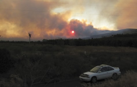 Image: Fire near Yakima