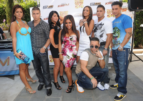 "Image: Cast of ""The Jersey Shore"""