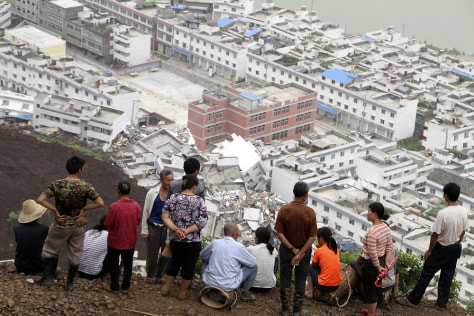 Image: Rain-triggered landslide in China