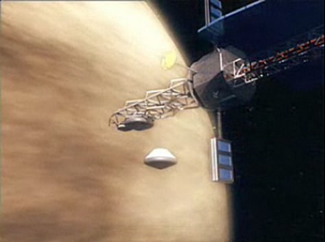 Image: NASA animation of concept Venus mission
