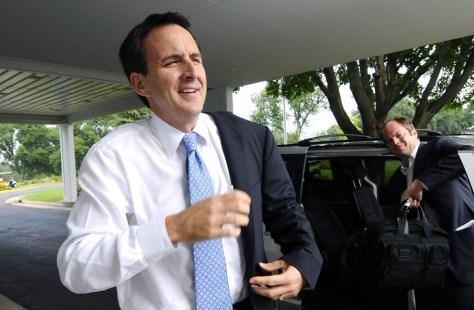 Image: Gov. Tim Pawlenty in Iowa