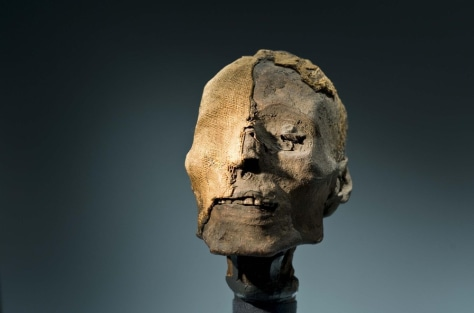 Image: Head of Egyptian mummy