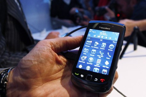 Image: BlackBerry Torch 9800 smart phone