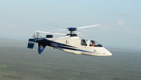 Image: Sikorsky double-blade X2 helicopter in air