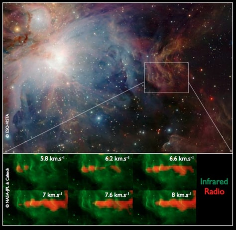 Image: Infrared images of stars