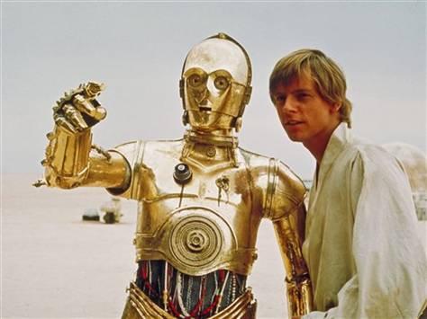 Image: C3PO and Luke Skywalker