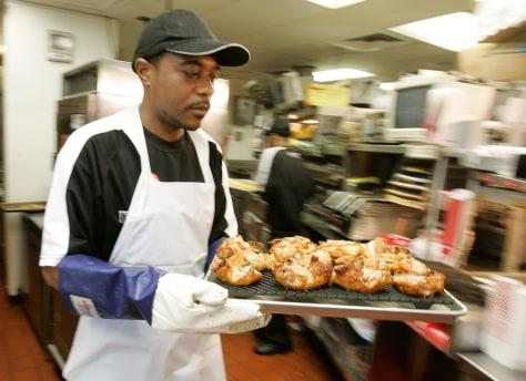 Image: KFC employee