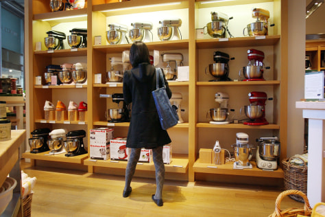 Image: Woman shops at Williams-Sonoma
