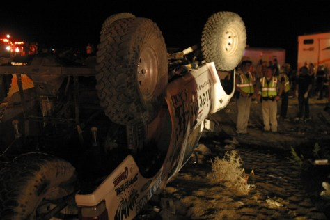 Image: An off-road race truck after a crash which killed 8 people
