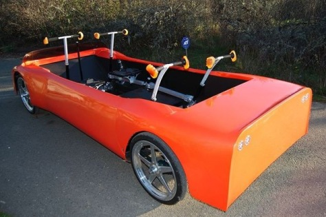Image: Human-electric car