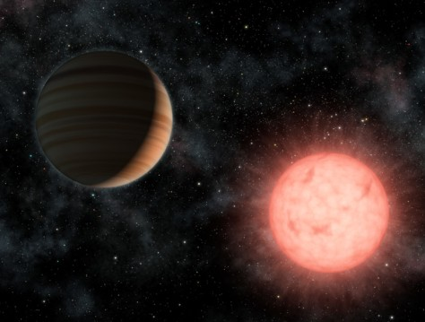 Image: Illustration of a Jupiter-class planet orbits its star