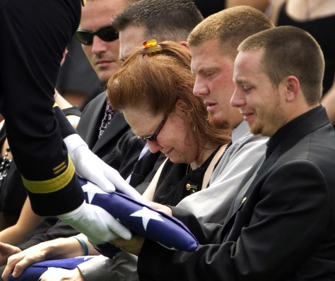 Image: Funeral service for Missouri Army National Guard Sgt. Robert Wayne Crow