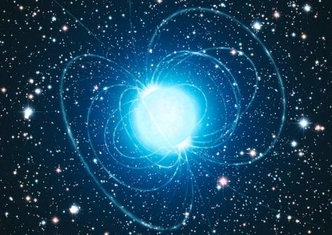 Image: Artist's impression of magnetar in star cluster Westerlund 1.