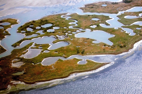 Image: Section of the Chandeleur Islands ravaged by Hurricane Katrina