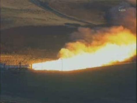 Image: Ares I rocket test-fire