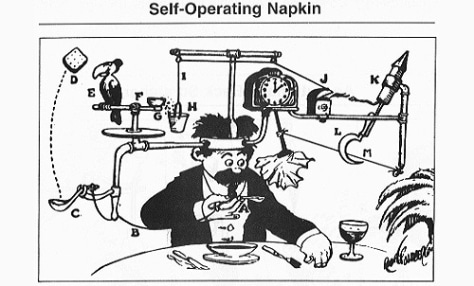 Image: Self-operating napkin
