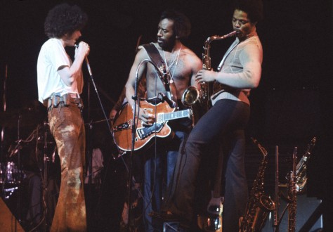Image: The funk band War in 1974
