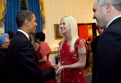 Image: Barack Obama, Michaele and Tareq Salahi