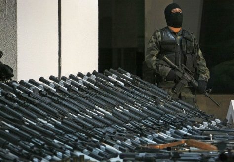 Image: Arms captured in Mexico