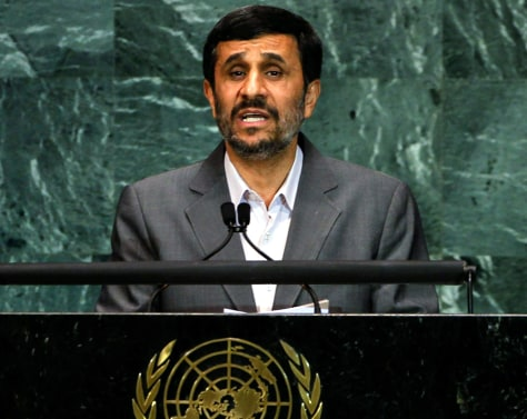 Image: Iranian President Mahmoud Ahmadinejad at the U.N.