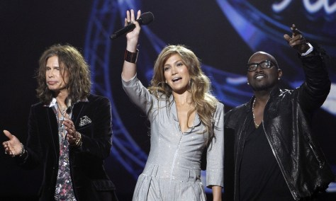 Image: Steven Tyler, Jennifer Lopez and Randy Jackson