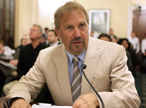 Image: Actor Kevin Costner at the House Homeland Security hearing