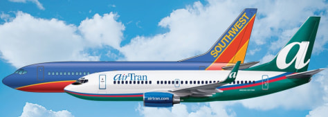Image: AIRTRAN AIRWAYS SOUTHWEST MERGE