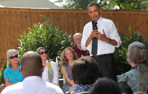 Image: US President Barack Obama answers questions about the Health Care Plan