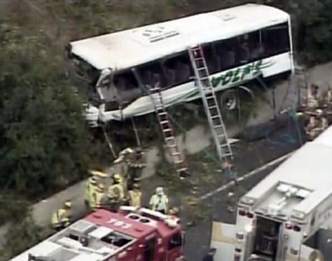 Image: Bus crash in Bethesda, Md.