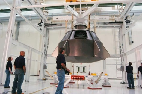 Image: full-scale Orion mockup