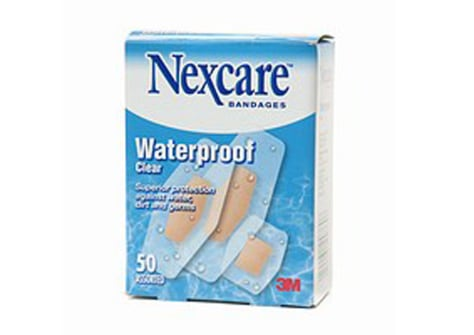 In a test of nine waterproof or water-resistant bandages, Nexcare Waterproof Clear leaked the least, allowing liquid in only 25 percent of the time. None of the brands kept water out all of the time, Consumer Reports found.