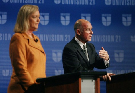 Image: Meg Whitman, Jerry Brown