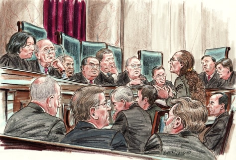 Image: Margie Phelps argues for the Westboro Baptist Church before the U.S. Supreme Court on Wednesday