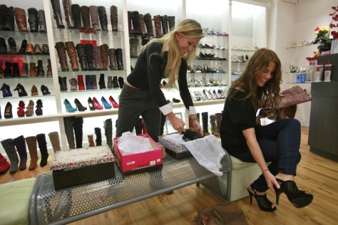 Image: Shoe shopping