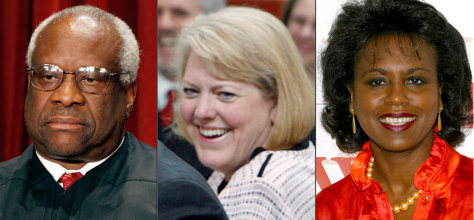 Image: Clarence Thomas; Virginia Thomas; Anita Hill
