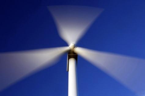 Image: Blades of windmill blur.