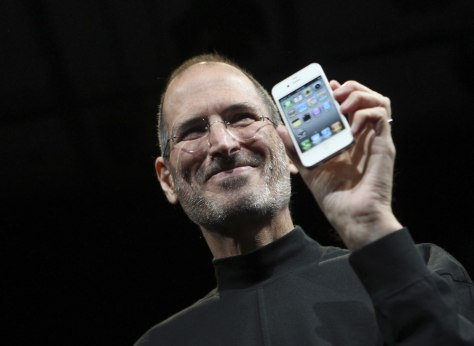 Image: Steve Jobs with iPhone