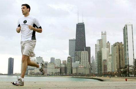 Image: Man jogging