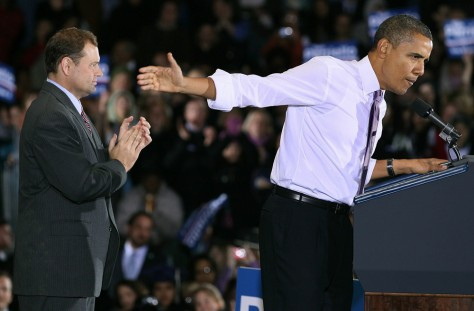 Image: President Obama attends rally for Rep. Tom Perriello, D-Va.