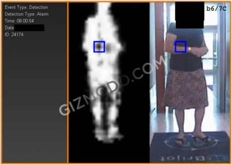 Image: Body scan record of a woman
