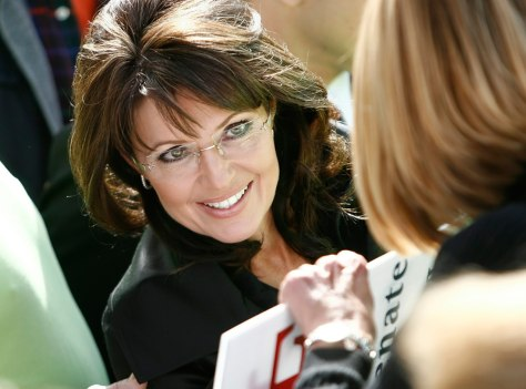 Image: Former vice-presidential candidate Sarah Palin