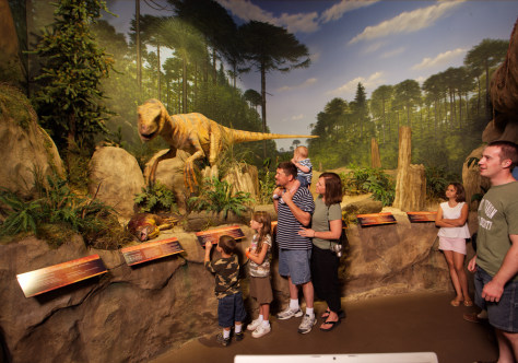 Image: Dinosaur exhibit at the Creation Museum