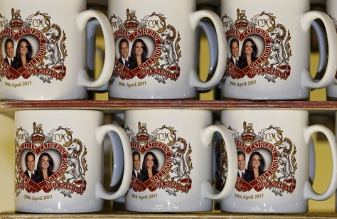 Image: Royal wedding memorabilia