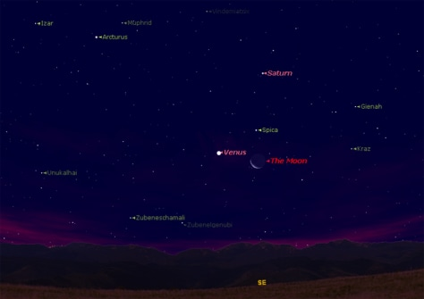 Venus, moon and bright star to dazzle Thursday ...