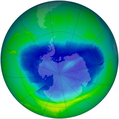 Image: Antarctic Ozone Hole 2010