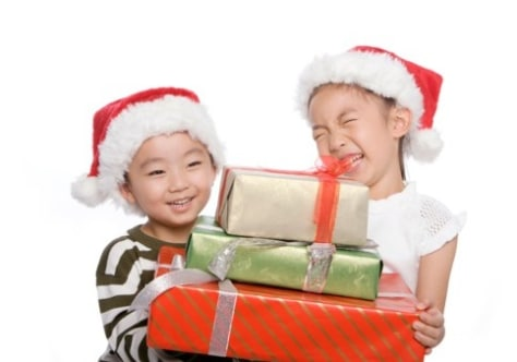 Image: Kids with presents